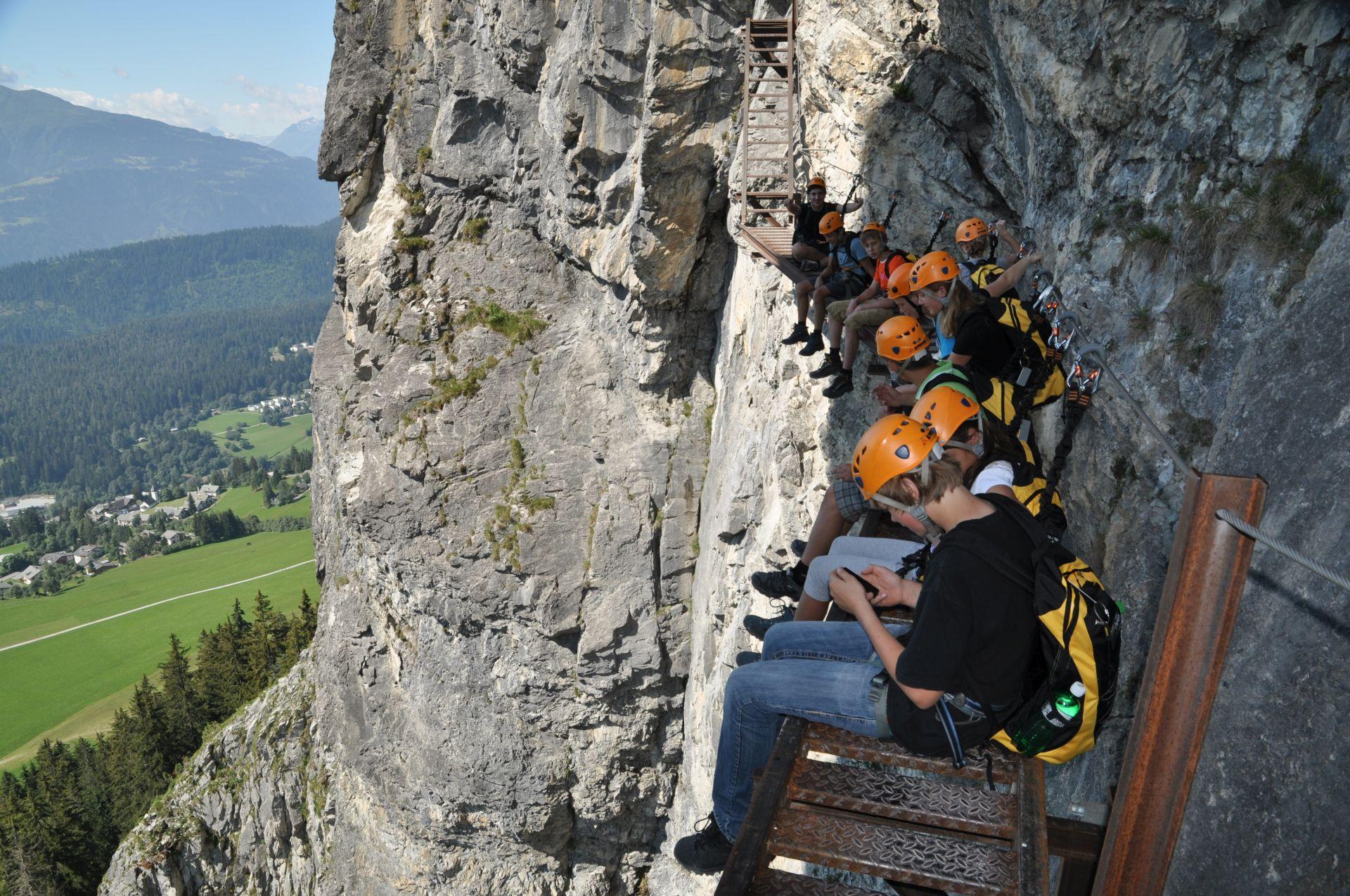 Klettersteig Diavolo : Klettersteige muntognas